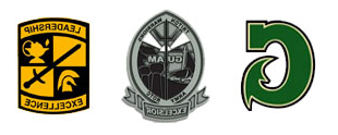 UOG Big G and ROTC seals